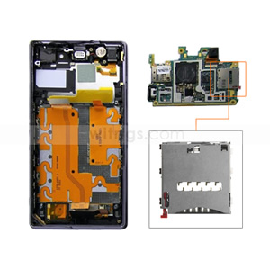 OEM SIM Card Reader Connector for Sony Xperia Z1