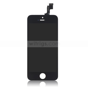 Custom LCD with Digitizer Replacement for iPhone 5S Black