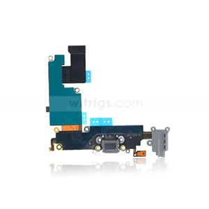 newest 65649 8e0eb OEM Charging Port Flex for iPhone 6 Plus Dark Gray