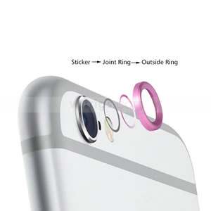 buy popular a5926 bf5d0 Camera Lens Metal Protective Ring for iPhone 6 Plus Silver