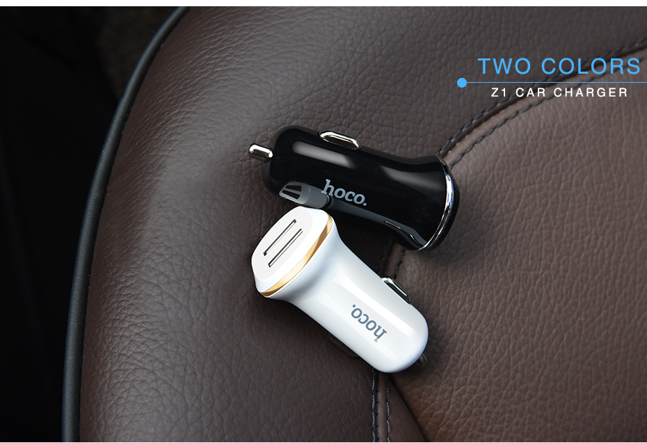 HOCO Z1 Double-ported Car Charger white 13