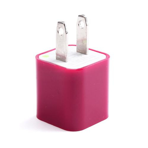 US Standard Charger for iPhone/iPad/iPod Magenta