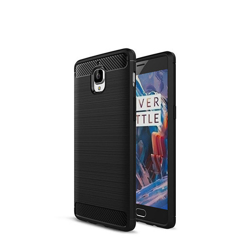 Brushed Silicon Back Shell for OnePlus 3/3T Black