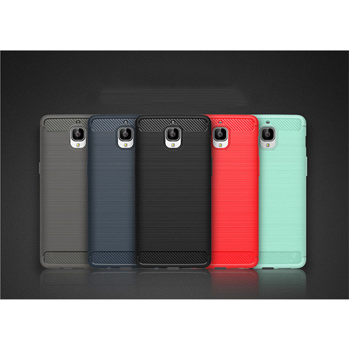 Brushed Silicon Back Shell for OnePlus 3/3T Red