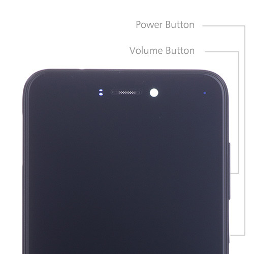 Custom Screen Replacement with Frame for Huawei Honor 8 Lite Black