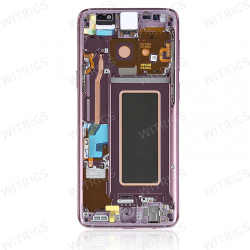 Custom Screen Replacement with Frame for Samsung Galaxy S9 Lilac Purple