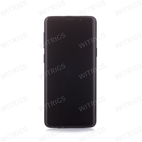 Custom Grade B Screen Replacement with Frame for Samsung Galaxy S9 Midnight Black