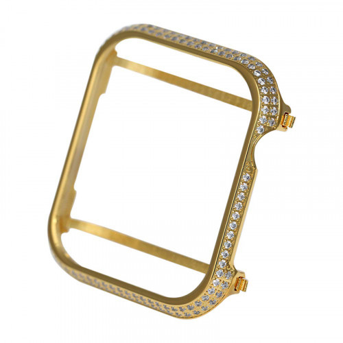 Custom Luxury Crystal Protective Case for Apple watch Series 5 & 4 40mm Gold
