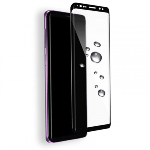 Full Screen Tempered Glass Screen Protector for Samsung Galaxy S9 Black