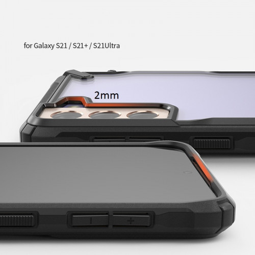 Ringke Shock-Proof Phone Case for Samsung Galaxy S21 Ultra Black