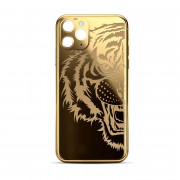 Custom Rear Housing for iPhone 11 Pro Max Gold Tiger