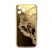 Custom Rear Housing for iPhone 11 Pro Max Gold Wolf