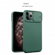 Slide Camera Cover Phone Case for iPhone 11 Pro Dark Green