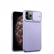 Slide Camera Cover Phone Case for iPhone 11 Pro Max Purple