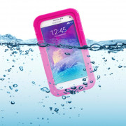 Universal Waterproof Hard Case for Smart Phone Magenta