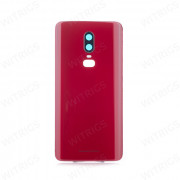 OEM Battery Cover + Camera Lens for OnePlus 6 Amber Red