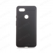 Brushed Silicon Back Shell for Google Pixel 3 XL Black