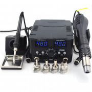 Double Digital Display Soldering with Heat Gun Rework Station YCD-8582D(US Plug)