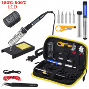 JCD Soldering Iron Kit Adjustable Temperature 80W (Black-EU 220V)