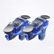 Auxiliary Gamepad Physical Buttons Mechanical Key for PUBG( 2PCS-Blue)