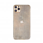Custom Luxury Full Diamonds Back Housing for iPhone 11 Pro Max Gold