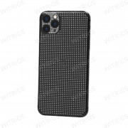 Custom Luxury Full Diamonds Back Housing for iPhone 11 Pro Max Black