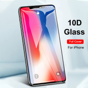 10D Full Cover Screen Protector for iPhone 11 Pro Max Tempered Glass 3PCS