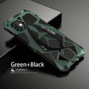 Mecha Phone Case for iPhone 11 Green and Black