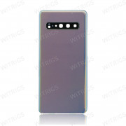 OEM Battery Cover with Camera Cover for Samsung Galaxy S10 5G Silver