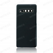 OEM Battery Cover with Camera Cover for Samsung Galaxy S10 5G Black