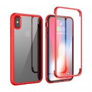 Shock Proof 360°Protection Phone Case for iPhone X Red