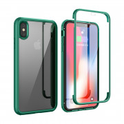 Shock Proof 360°Protection Phone Case for iPhone XS Max Green