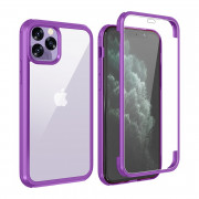 Shock Proof 360°Protection Phone Case for iPhone 11 Pro Max Purple