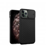 Slide Camera Cover Phone Case for iPhone 11 Pro Max Black