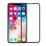 Full Tempered Glass Screen Protector for iPhone X Black
